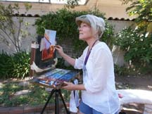 Photo of plein air artist Brenda Boylan by photographer Alheli Curry