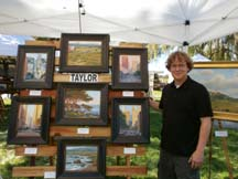 Photo of plein air artist Brian Taylor by Angela Young
