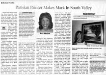 Newspaper article by writer Angie Young