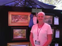 Photo of plein air artist Lori Putnam by Angela Young