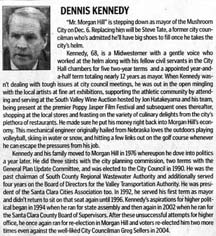 Article about Dennis Kennedy by writer Angie Young