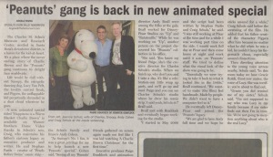 Top half of a scan of an article in the Morgan Hill Times by writer Angela Young