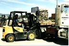 Photo of forklift loading pavers by Angie Young