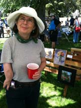 Photo of plein air artist Mamie Walters by Angela Young