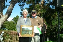 Photo of plein air artists Mary Stahl & Jean Stern by Angela Young
