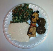 Plate from Mr. Falafel, writer Angela Young