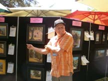 Photo of plein air artist Paul Kratter by Angela Young