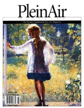 Cover of the August 2005 issue of Plein Air magazine