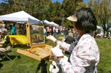 Plein air artist Sandra Lo by Angela Young