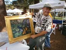 Photo of plein air artist Sterling Hoffman by Angela Young