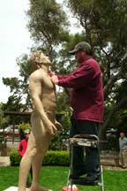 Photo of sculptor Steve Whyte by Angela Young