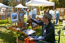 Photo of plein air artist Timothy Horn by Angela Young