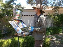 Photo of plein air artist Tom Kitts by photographer Alheli Curry
