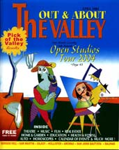 "Cover of the April 2004 issue of ""Out & About The Valley"" magazine"