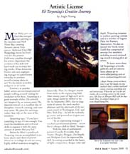 August 2005 Artistic License column by writer Angie Young