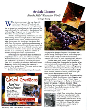 January 2005 Artistic License column in Out and About the Valley magazine by artist Angie Young