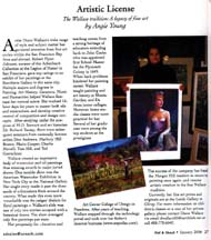 Scan of the January 2006 Artistic License column by writer Angie Young