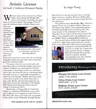 "Angie Young's ""Artistic License"" column in the May 2004 issue of ""Out & About"""