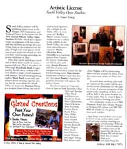 Scan of May 2005 Artistic License by writer Angie Young