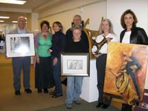 Photo of some artists in the Morgan Hill Open Studio 2005