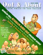 Cover of the May 2008 issue of Out and About the Valley magazine