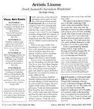 November 2004 Artistic License column (left side) by Angie Young