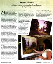 Scan of writer Angie Young's Artistic License column