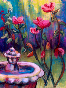Garden painting by Kerri Lawnsby